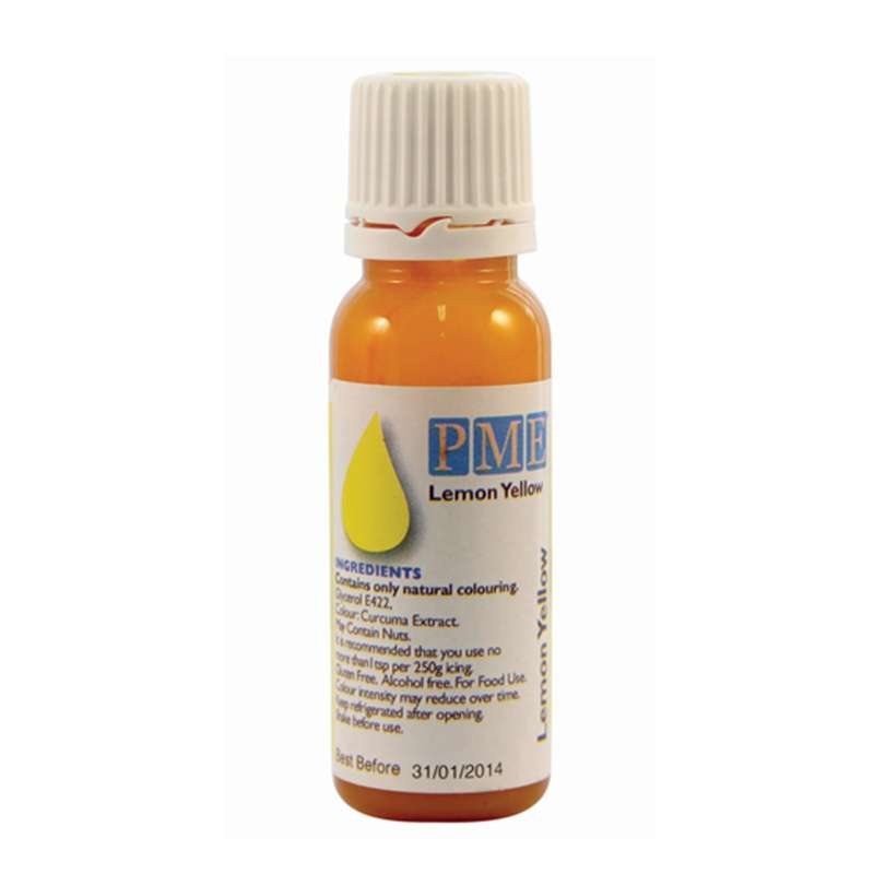 Colorante alimentario amarillo limón - 25g PME | www.cocinista.es