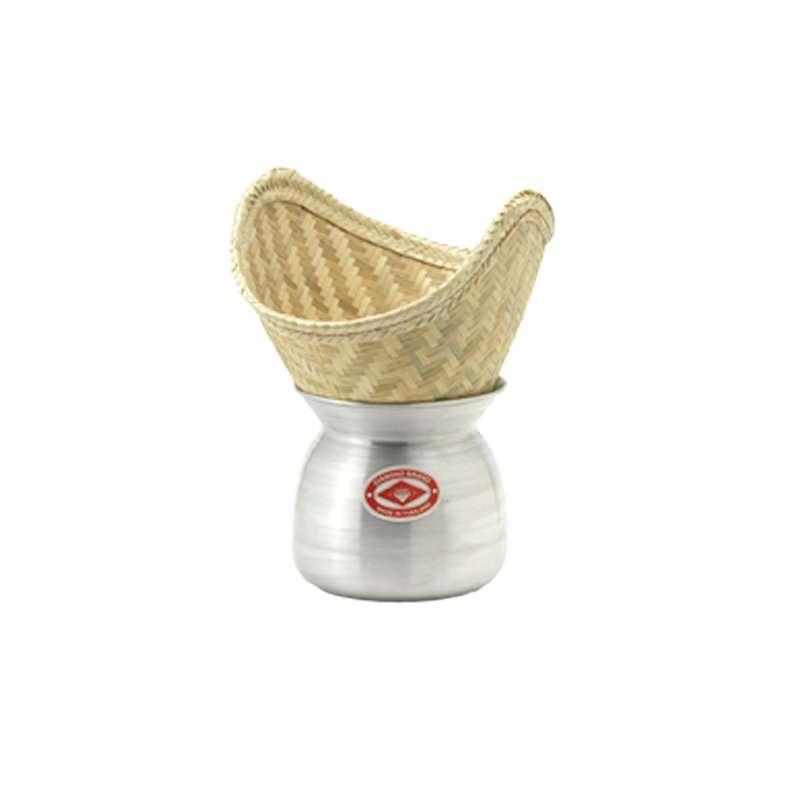 Olla de aluminio con cesta de bamb para cocinar al vapor - Olla cocinar al vapor ...