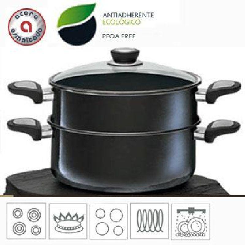 Olla al vapor o cuscusera 24 cm san ignacio - Olla cocinar al vapor ...