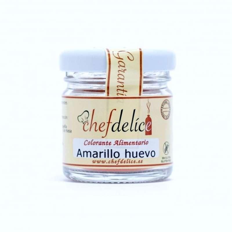 Colorante en polvo Amarillo huevo - 20 g Chefdelice | www.cocinista.es
