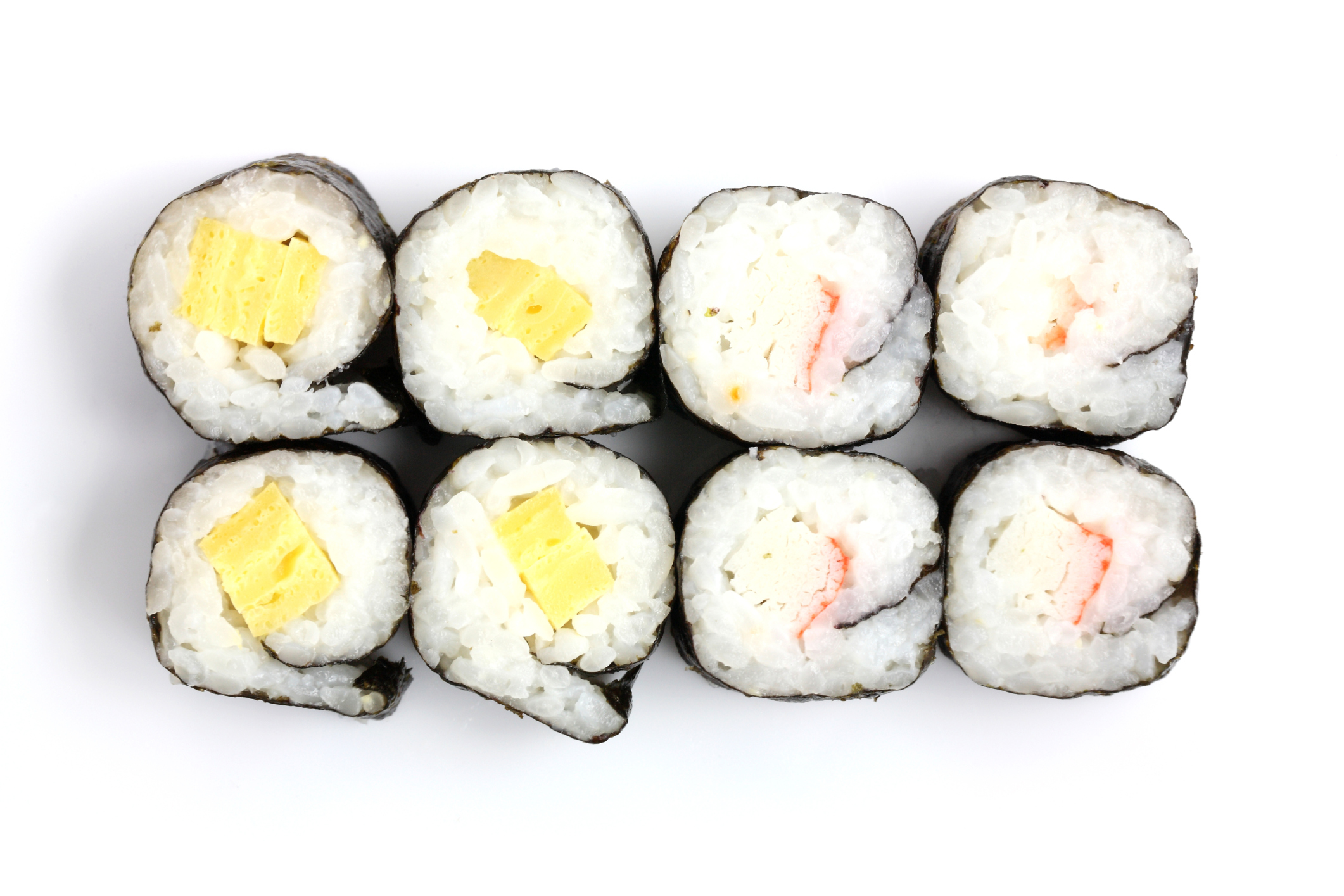tipos de rollos de sushi makis